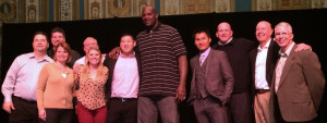 The Innovative Team meets Shaquille O'Neal at the Monster 35th Anniversary sales meeting. Shaq looks big on TV. He's much bigger in person. Monster partners with notable celebs from every part of the entertainment world to help drive sales.