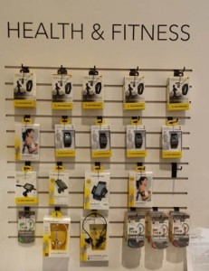 Scosche has a full line of wearable technology in the health and fitness category. Wearable technology is forecast to be a $4.6B industry in 2014. For people who can never put their phone down…… now you don't have to while you exercise.