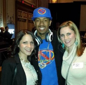 Innovative's Got Talent……Hopefully Mariah won't get jealous of Ashley and Nikki! With Nick Cannon at the Monster Dealer Awards event.